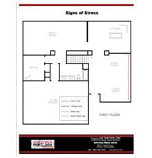 Foundation repair floorplan Catalina, Marana, Tortolita, Sahuarita, Vail, Tanque Verde, Casas Adobes, Tucson Estatesand theDrexel Heights Arizona