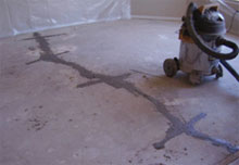 Fill cracks and around carbon fiber slits with super low viscosity polyurea.